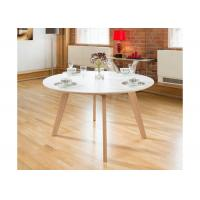China Small Round Wood Modern Dining Table Furniture Self - Assembly Alkali Resistant wholesale
