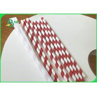 China 33mm * 5000m 25g 28g Eco - Friendly Food Garde Straw Wrapping Paper Roll wholesale