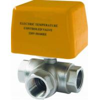 China High Precision Brass Electric Ball Valve / Electrically Controlled Water Valve wholesale