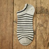 China Fashion striped summer boat cotton socks for men wholesale