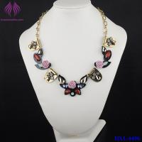 China Fashion Crystal Flower Necklace cute bead charm Chain Necklace on sale