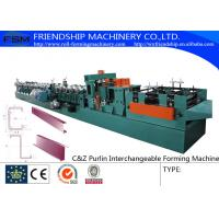 Buy cheap 415V C Z Purlin Roll Forming Machine For 80-300mm C&Z Steel Purlin from wholesalers