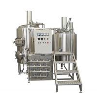 Buy cheap 500L Semi Automatic Small Brewery Equipment Two Vessels With Steam Condenser from wholesalers