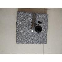 Quality Hand Carry Square Natural Granite Parasol Base, Sun Umbrella Wheel Stone Base for sale