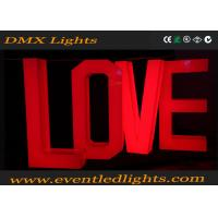 China Bright Wedding Led Light Up Letters Love Decoration Environment Friendly wholesale