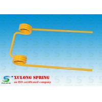 China 12mm Wire Double Torsion Springs Yellow Powder Coated For Agriculture Machinery wholesale