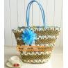 China Tote Shopping Beach Bag Purse Handbag Straw Beach Bags Handbag High-Capacity Women Handbag wholesale