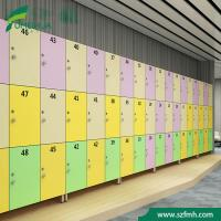 China waterproof shopping mall changing room storage RFID hpl dampprooff Z shape 2 tiers locker cabinet for sale on sale