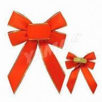 China Handmade Packing Bow with Gold Elastic Loop, Customized Colors, Sizes, and Shapes are Welcome on sale