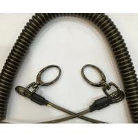 China Strong plastic spring tool coiled lanyard for tools protection good secuirty spiral elasti on sale