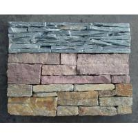 China Green Slate Slim Strips Ledgestone, Culture Stone Veneer with Cement Back,Outdoor Wall Panel wholesale