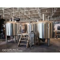 China 10BBL Brewhouse Large Scale Brewing Equipment Semi Auto Control Panel wholesale