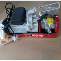 China PA1000 mini electric hoist wire rope hoist 500kg 1000kg with emergency stop button wholesale
