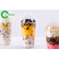 China Durable Transparent Plastic Drink Lids Break Proof Tasteless For 700ml Cups wholesale