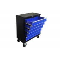 "China 24"" 616x330x745mm Blue 5 Drawer 24 Inch Tool Chest Cabinet On Wheels wholesale"