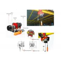 China Mini Suspension Electric Wire Rope Hoist Fixed Type Or Moveable Low Noise wholesale