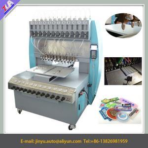 China 12 colors pvc label dispenser machine, pvc label making machine on sale