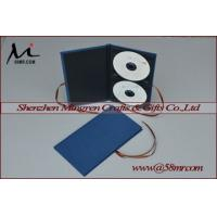 China Double Cotton Fabric Linen DVD CD Case wholesale