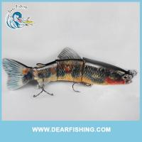 China multi jointed fishing lure swimming action plastic trout swimbaits wholesale