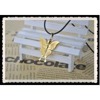 China 24K Gold Plated Jewelry / Gold Butterfly Pendant As Teachers Day Gift on sale