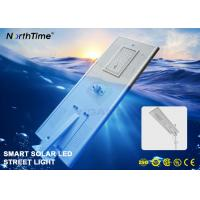 China Phone APP Control System Smart Solar Street Light With Bridgelux LED Chips 8000LM wholesale