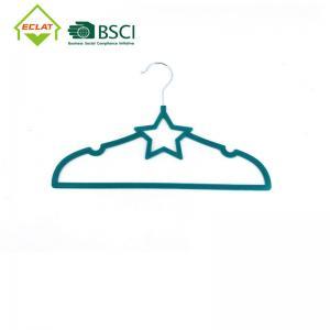 China 360 Degree Swivel Hook Kids 33cm Slim Velvet Hangers wholesale