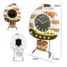China sailing boat shape alarm clock for kids wholesale