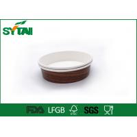 China Single Wall Paper Ice Cream Cups Disposable , Paper Salad Bowl Customized Printing wholesale