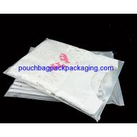 China Printed CPE garment Zip Lock Bags, slide zip garment pouch bag wholesale