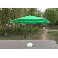 China Green Round Outdoor Patio Umbrellas , Professional Beach Umbrella With Fringe wholesale