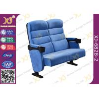 Fine Finish Multifunctional Metal Iron Double Leg Widely  Cinema Theater Seating Chairs Manufactures