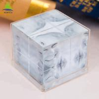 China Clear 6 Side Acrylic Photo Frames Cube  Customized Size  Silk Screen Printing wholesale