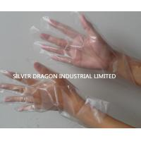 China Clear Disposable gloves, embossed, Size S,M,L wholesale