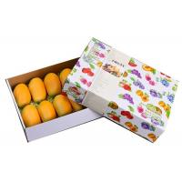 China White Fruit Strong Cardboard Boxes , OEM Square Cardboard Boxes With Lids Watermark Printing on sale