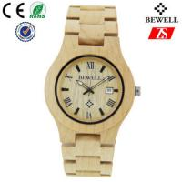 China Hign End Men Wooden Strap Watch Waterproof With Japan Battery , OEM ODM Service wholesale
