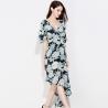 China Chiffon Half Short Long Sleeve Casual Dresses Elegant For Women wholesale