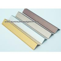 Buy cheap Decorative Drywall Aluminum Corner Guards With Brushed Effect 1.5mm Thickness from wholesalers