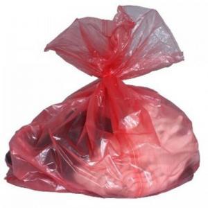 Custom Water Soluble Laundry Bags , PVA Plastic Medical Laundry Bags