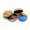 China Tourist Souvenir Fridge Magnets 35 Mm Diameter Dome Crystal Glass Material wholesale