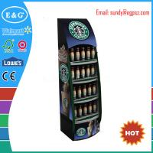 China custom supermarket cardboard soft drink display rack wholesale
