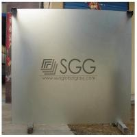 China clear acid etched glass panel 3mm 4mm 5mm 6mm 8mm 10mm 12mm 15mm 19mm wholesale