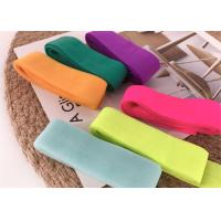 China Fold Over Nylon Soft Elastic Bands / Adhesive Bias Tapes For Garment Accessories on sale