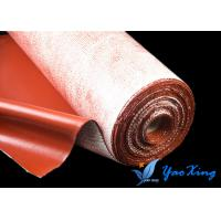 China Anti - Aging Silicone Fiberglass Fabric  Good Heat Insulation And Soft Surface wholesale