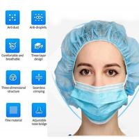 China Sanitary Disposable Earloop Face Mask Adjustable Nose Bridge Reliable wholesale