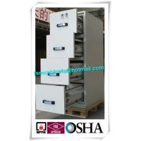China Steel Waterproof Fire Resistant File Cabinet , Two Drawer Fire Rating Storage Cabinet wholesale
