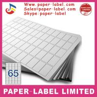 China Label Dimensions: 52.5mm x 29.6mm A4 labels wholesale