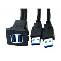 Quality Dual Mount panel Computer Data Cable USB 3.0 Female Water Resistant Panel For for sale