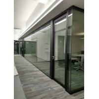 China Office Acoustic Demountable Glass Partitions Soundproof  85mm Wall Thickness wholesale