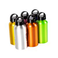China Aluminium Drinking Water Bottle Screw Cap and Carabineer 400ml Sports Hiking wholesale
