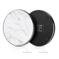 Buy cheap Universal Wireless charger with Real Marble surface Aluminium Alloy base from wholesalers